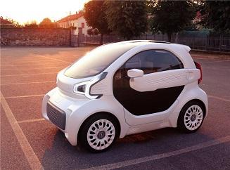 Elektrická auta vytištěná na 3D tiskárně by mohla být příští rok na trhu