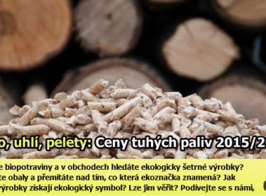 Dřevo, pelety, uhlí: Jaké jsou aktuální ceny tuhých paliv?