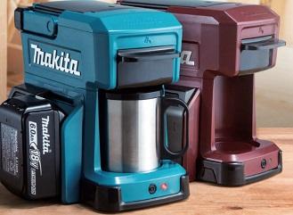 Kávovar na baterii z elektrického nářadí