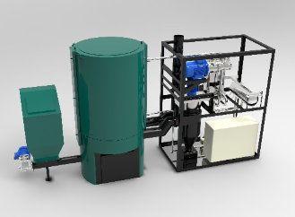 První model mikroelektrárny na biomasu jde do ostrého provozu