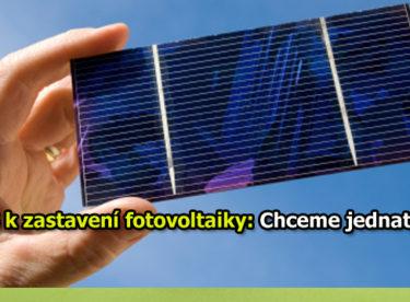 ČEPS k zastavení fotovoltaiky: Chceme jednat!