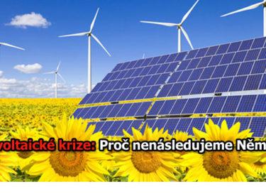 Řešení fotovoltaická krize: Proč nenásledujeme Německo?