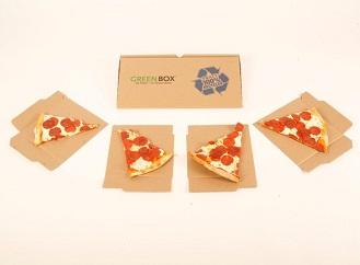 Inteligentní krabice na pizzu z recyklovaného papíru nahradí talíře a dokáže se zmenšit