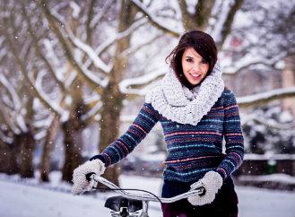 Ježdění na kole v zimě? Pokud není ledovka, tak to jde