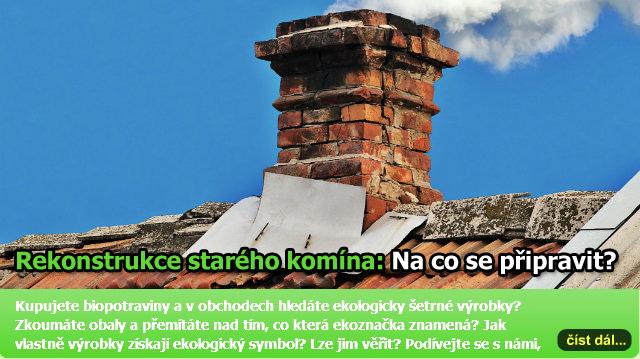 Rekonstrukce komína: Vložkování, frézování a opravy nadstřešní části