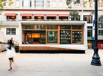 """Modulární mobilní dům s """"jedlou"""" stěnou a zelenou střechou vyrobí více energie než spotřebuje"""