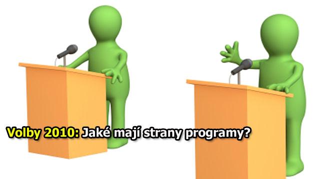 Volby 2010: Jaké mají strany programy?