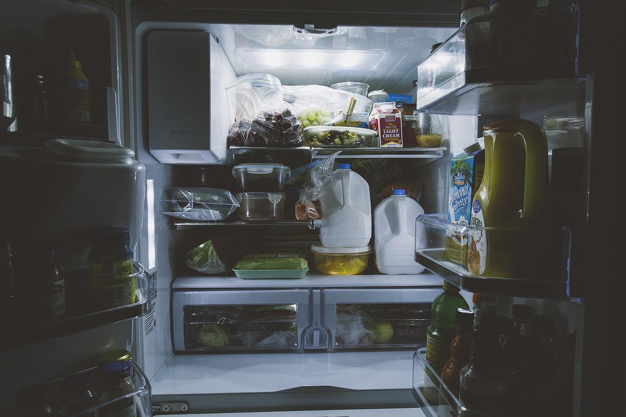 lednice a jídlo