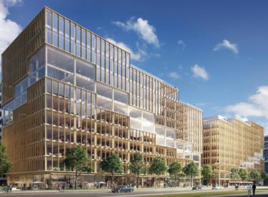 Zapomeňte na beton. Kancelářské budovy se ve světě staví i ze dřeva