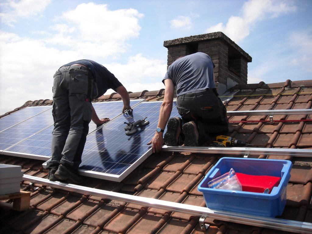 solární panely, fotovoltaika, instalace