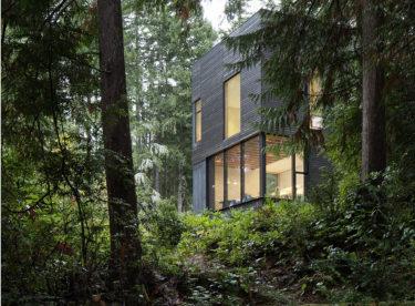 Malý dům v lesích s dechberoucími výhledy