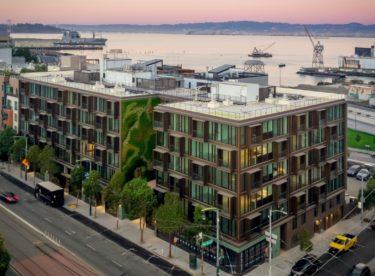 Bytový dům s fasádou plnou zeleně