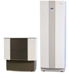 Vnitřní avenkovní jednotka tepelného čerpadla vzduch/voda značky Danfoss