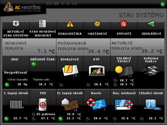 Řídicí systém AC Heating xCC umí přepnout kaskádu tepelných čerpadel do alternativního režimu