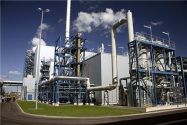 Pilotní CCS elektrárna Schwarze Pumpe (Lausitz, NSR). Zdroj: Vattenfall Europe AG