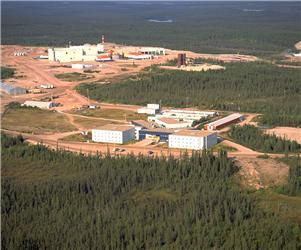 Jeden zkanadských dolů na uran - ve městě Saskatchewan