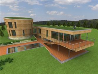 Projekt pasivního domu vBrdech od Ing. arch. Josefa Smoly