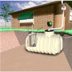 Zásobník dešťové vody umístěný pod zemí