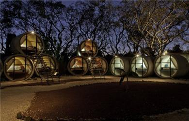 Tubohotel – originální projekt vmexickém Tepoztlan