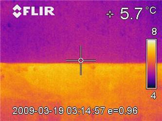 Tepelný most na snímku ztermovizní kamery