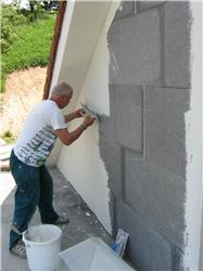 Aplikace šedého polystyrenu EPS GreyWall