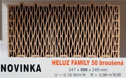 Cihelné bloky Heluz Family svynikajícími izolačními vlastnostmi