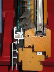 .6 Řez oknem skombinací dřevo- hliník