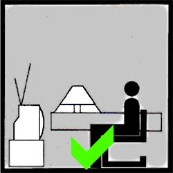 Správné osvětlení při sledování televize
